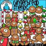 Gingerbread Friends Clip Art Set - Chirp Graphics