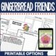 Gingerbread Friends Book Companion in Digital and PDF Format