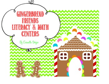 Gingerbread Friends Literacy & Math Centers Pre-K, K, 1st