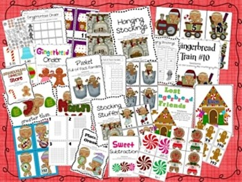 Gingerbread Friends Math Centers Only