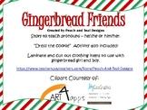 Gingerbread Friends Pronoun Speech Book and Dress the Cook