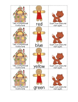 Gingerbread Friends Sight Word Game