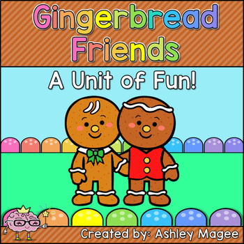 Giant Gingerbread Friends Unit Bundle with Emergent Reader, Games, and MORE!