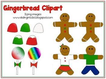 Gingerbread Friends {clipart}