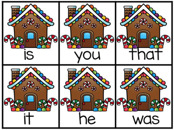 Gingerbread Fry's First 50 Sight Word Game