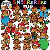 Gingerbread Fun Clipart {Gingerbread Clipart}