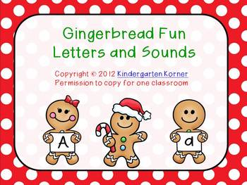 Gingerbread Fun - Letters and Sounds