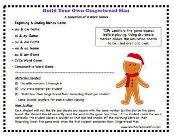 Gingerbread Man Activities & Games for Literacy Fun