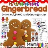 Gingerbread Fun for preschool, prek, and kindergarten