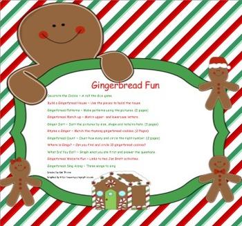 Gingerbread Fun for the SMARTboard