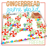 Christmas Gingerbread Open Ended Game Board FREEBIE