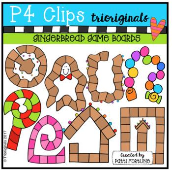 Gingerbread Game Boards (P4 Clips Trioriginals)