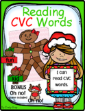 Gingerbread Game ~ Reading CVC Words ~ BONUS Oh No! Game