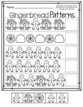 Gingerbread Games {Colorful Centers & BW Printables}