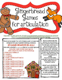 Articulation Gingerbread Games