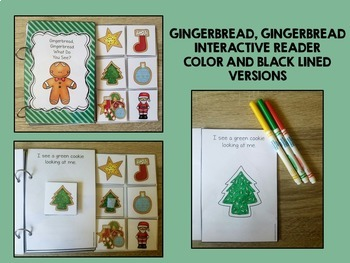 Gingerbread Gingerbread What Do You See?  An Interactive Reader and Activities