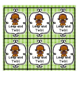ABC Game Gingerbread Girl Leap & Twirl Game