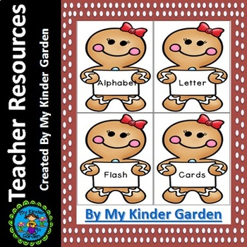 Gingerbread Girl  Alphabet Letter Flashcards Uppercase and Lowercase