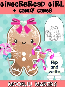 Gingerbread Girl + Candycane - Moonju Makers for Activity, Craft, Decor, Writing