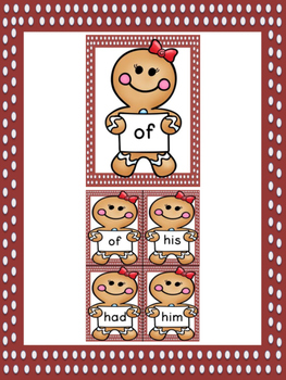 Gingerbread Girl Dolch First Grade Sight Word Posters and Flashcards