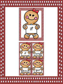 Gingerbread Girl Dolch Third Grade Sight Word Posters and Flashcards