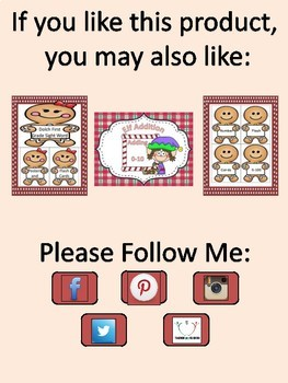 Gingerbread Girl Full Page Alphabet Letter Posters Uppercase and Lowercase