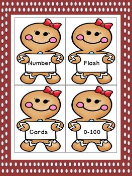 Gingerbread Girl Number Flashcards 0-100