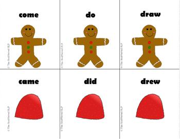 Gingerbread Girl Irregular Past Tense Flashcards
