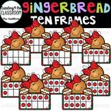 Gingerbread Girl Ten Frames Clip Art {Gingerbread Clip Art}