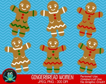 Gingerbread Girl {Upzaz Digital Clipart}