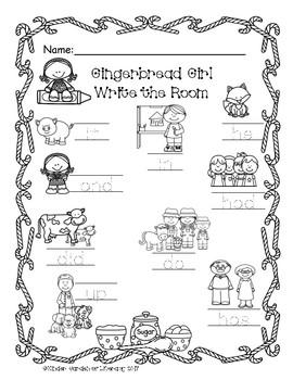 Gingerbread Girl-Write the Room