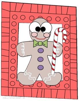 Gingerbread Glyph Activity (Winter Holiday Math & Language Arts Venn Diagram)