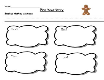 Gingerbread Glyph and Story Writing