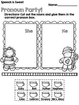 Gingerbread Grammar Freebie