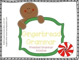 Gingerbread Grammar: Preschool Grammar Activities