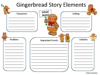 Gingerbread Graphic Organizer