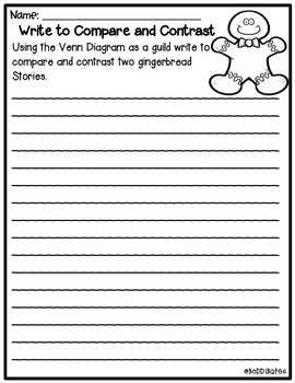 Gingerbread Graphic Organizers and Activities