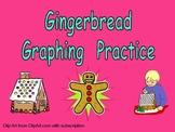 Gingerbread Graphing Practice for Kindergarten Winter
