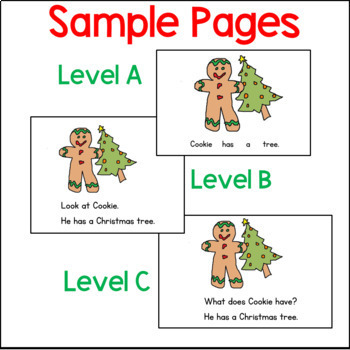 Gingerbread Guided Reading Books:  Multi-Level A and B: Projectable  Printable