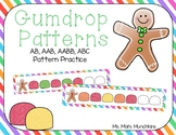 Gingerbread Gumdrop Pattern Practice