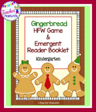 Gingerbread Man Activities High Frequency Word Game & Emergent Reader Booklet