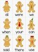 Gingerbread Man Literacy: High Frequency Word Game & Emerg