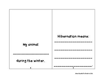 Gingerbread Hibernation:  An Interactive Mini-Book & Science Activity!