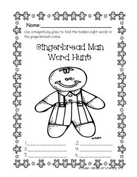Gingerbread Hidden Sight Words