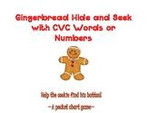 Gingerbread Hide & Seek With CVC Words or Numbers~ Two Poc