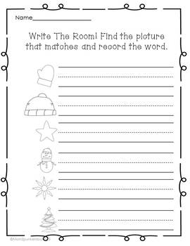 Gingerbread Literacy Write the Room and Sentence Building