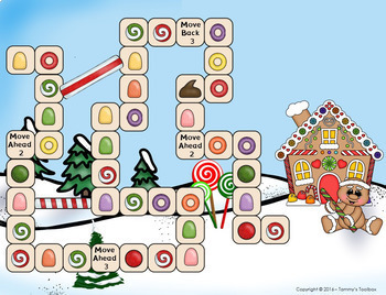 Fact Review Game - Gingerbread Man Holiday Theme