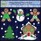 Gingerbread Home Clipart Set {Messare Clips and Design}