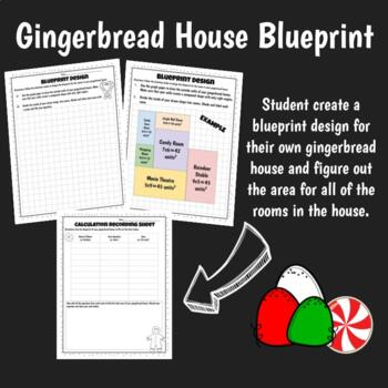 Gingerbread House Area and Perimeter Design Challenge