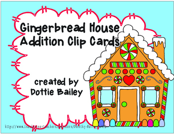 Gingerbread House Addition Clip Cards